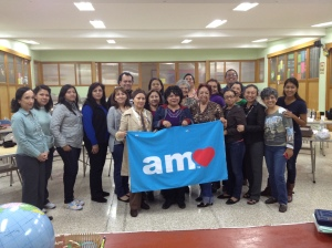 Newly trained AMO Teachers in downtown Mexico City