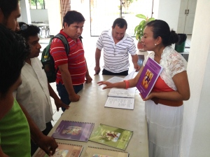 Francelia with students at San Pablo Seminary, Mérida, Yucatán, June 2014