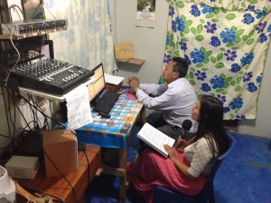 Fran on radio Juchitan
