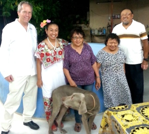 Our gracious hosts Ismael and Rosa Maria May Pech and, next to Ismael, his sister Teresa ~ Mérida, Yucatán