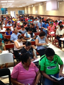 "A ""packed house"" responding to the AMO Workshop ~ Campeche"