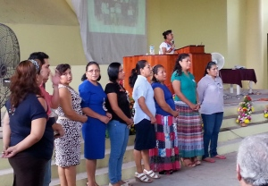 Francelia introducing at MeXED some of the AMO teachers from local churches in Tabasco