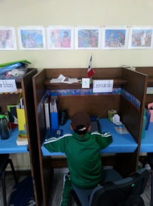 Puebla Christian school has private study space for online studies, as well as common areas for group study through AMO curriculum.