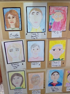 Self portraits in Puebla Christian school