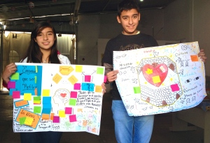 Young artists sharing what they learned in the AMO training