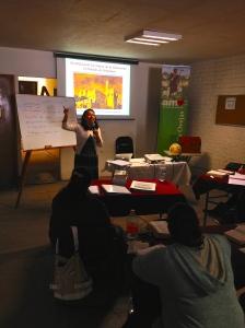 Francelia teaching in Irapuato, Guanajuato