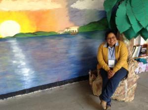 """Alejandra's mural for the class reading """"Joel: A Boy of Galilee"""" in Oaxaca"""