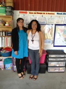 Dedicated AMO Teachers in Oaxaca, Elizabeth and Amada