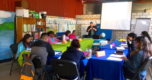 First training given by two our new AMO trainers in Oaxaca!