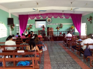 Francelia teaching in Huimango, Tabasco